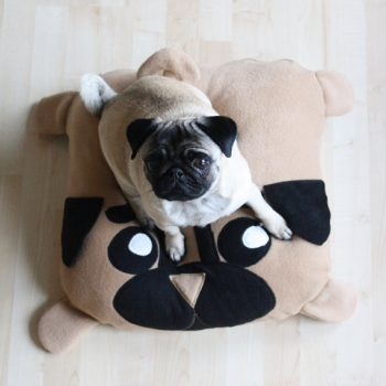 Unique Pug Dog Pillow