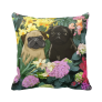 Black and Fawn Throw Pillow