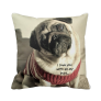 Pug Knitted Pillow