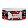 Red and Black Dog Water Bowl