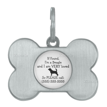 Beagle Safety Tag Return to Owner Pet ID Tags