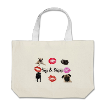 pug kisses bag