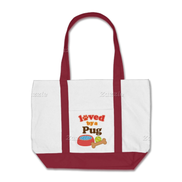 Loved By A Pug (Dog Breed) Bags