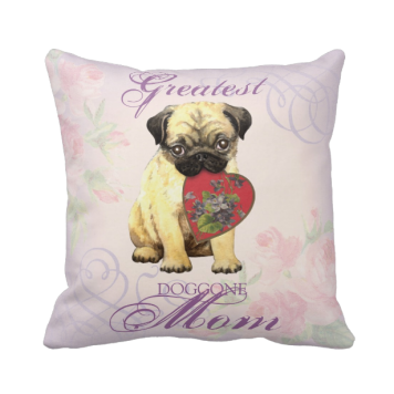pug mom pillow