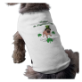 Adorable St. Pat's Day Pug Pet Tshirt