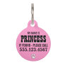 Paw Prints Pink Personalized Pet ID Tag