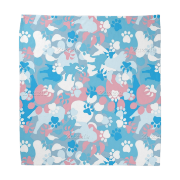 Dog Pink and Blue Camouflage Pattern Kerchiefs