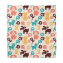 Pattern With Funny Dogs Bandana