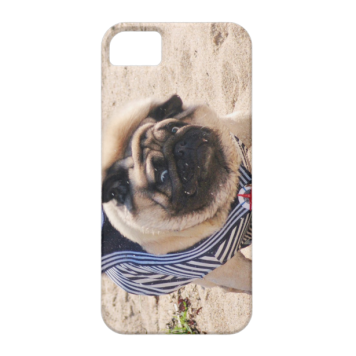 Euro Pug Funny Sailor iPhone 5/5S case