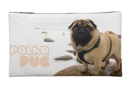 Polar Euro Pug Medium Cosmetic Bag