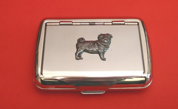 Pug Dog Chrome Tobacco Tin