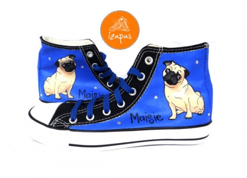 Hand Painted Pug Sneakers