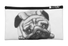 The Pug Face Cosmetic Bag