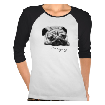 Europug The Sad Face Ladies 3/4 Sleeve Raglan T-shirts