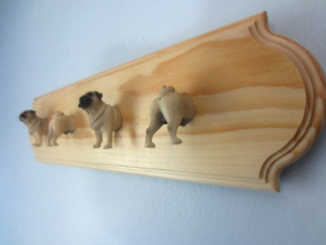 Wall Hang With Pug Hooks