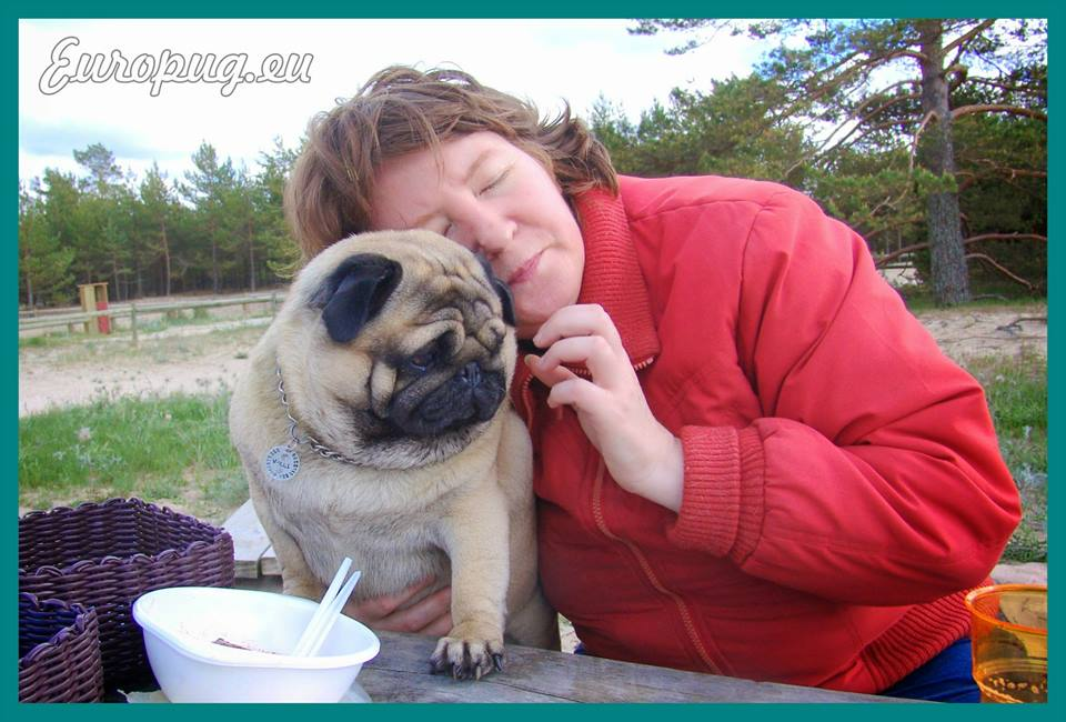 Once at weekend with pug