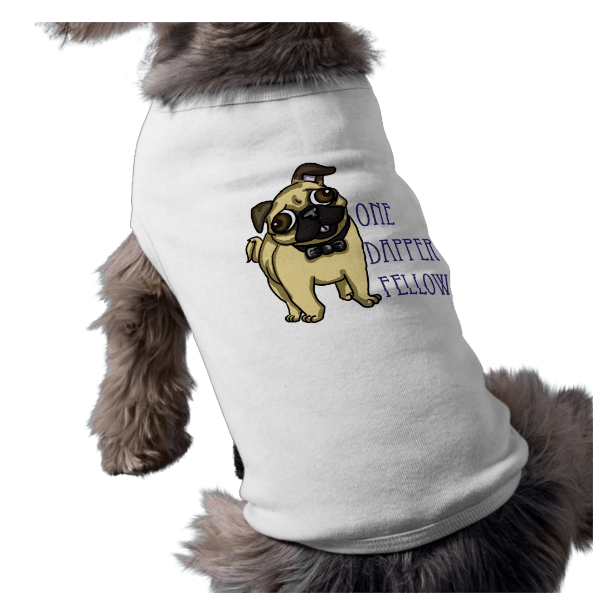 Dapper Pug Doggie Tee Shirt