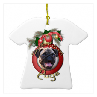 Pugs Christmas Tree Ornament
