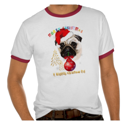 A Merry Christmas Pug Shirt