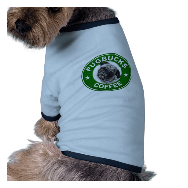 Pugbucks Coffee Pet Tshirt