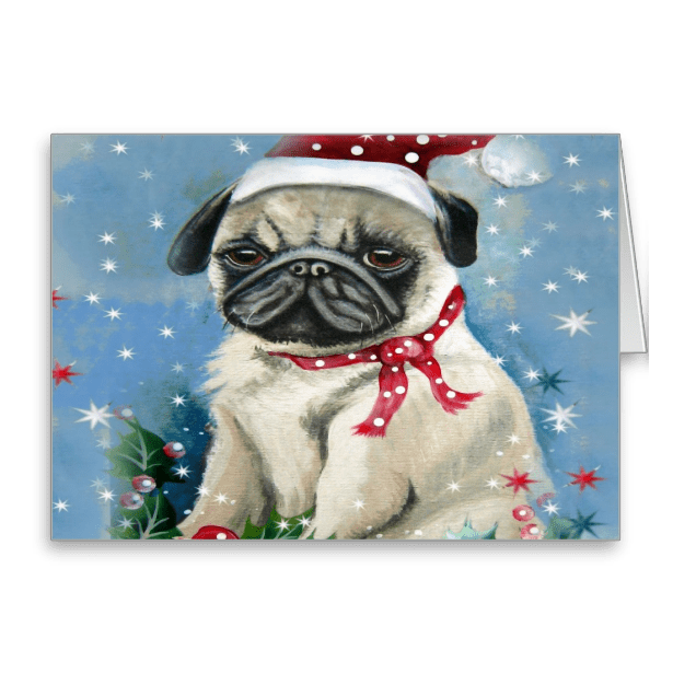 Holiday Pug Greeting Cards