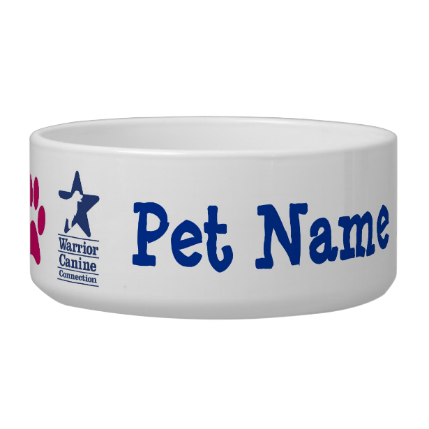 Personalized WCC pet bowl