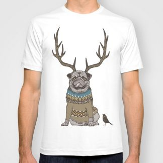 Deer Pug Men T-shirt