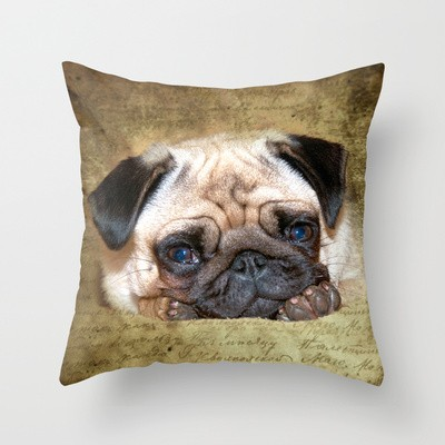 Mops Throw Pillow