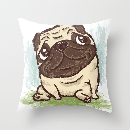Pug That Relaxes Pillow
