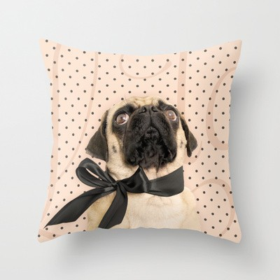 Trs Chic Pug Pillow
