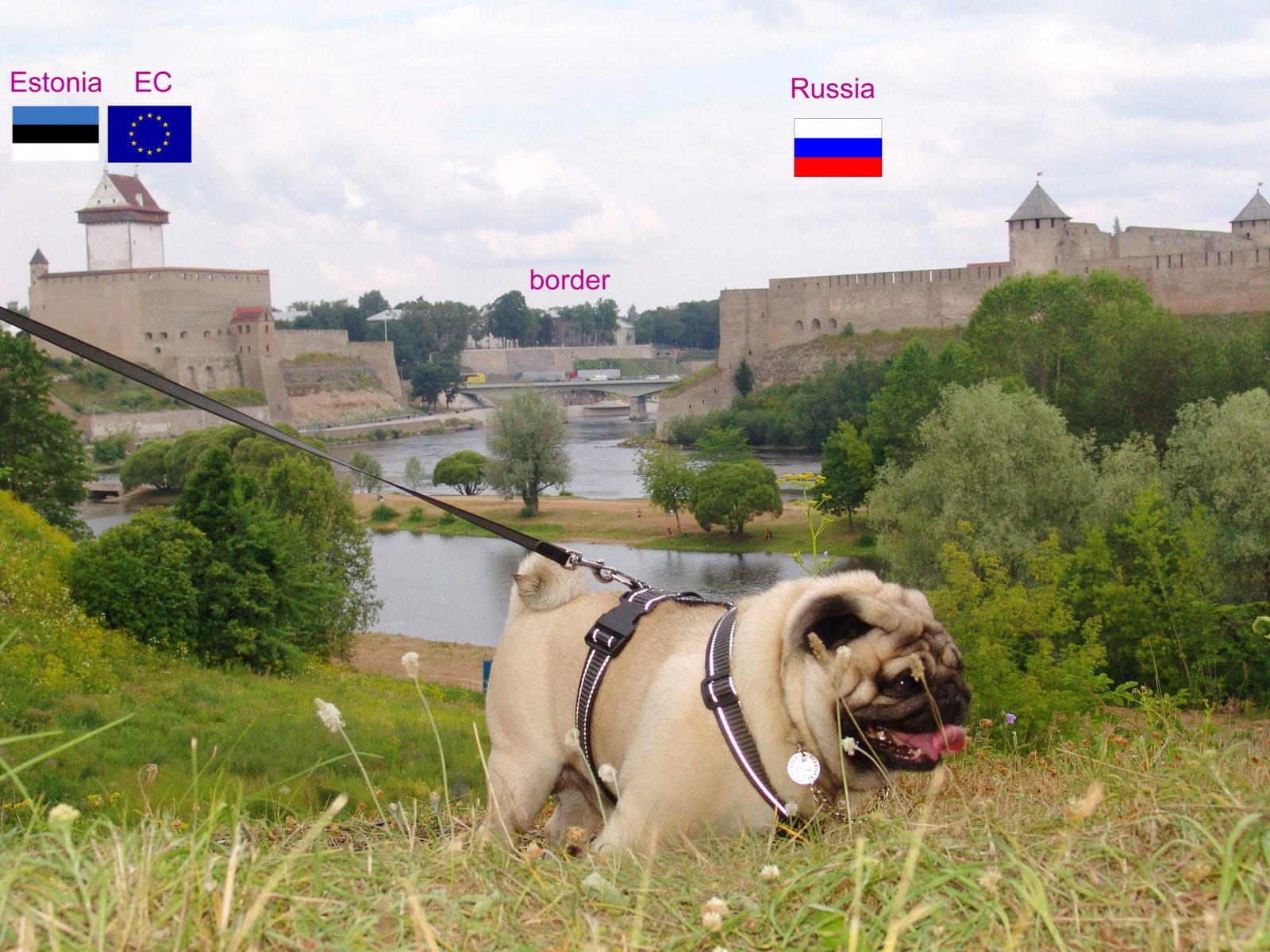 Europug stands on the border