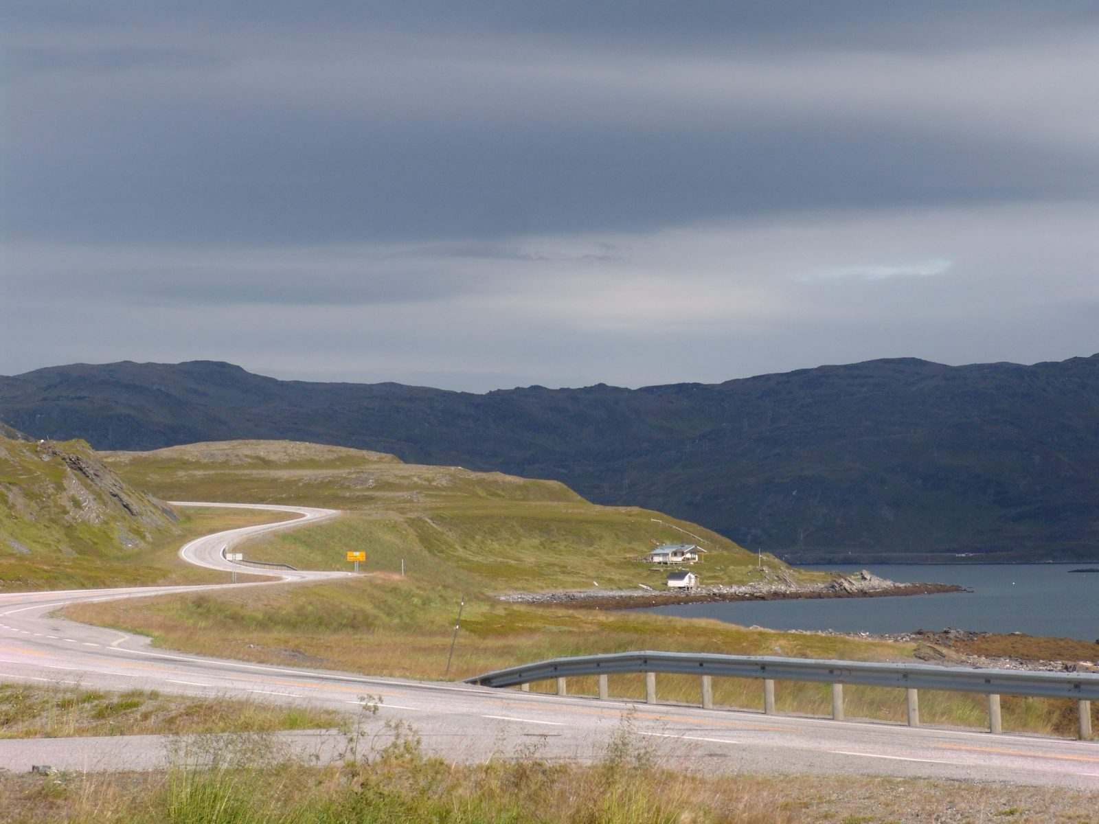 Travel to North Cape. The views from the windows