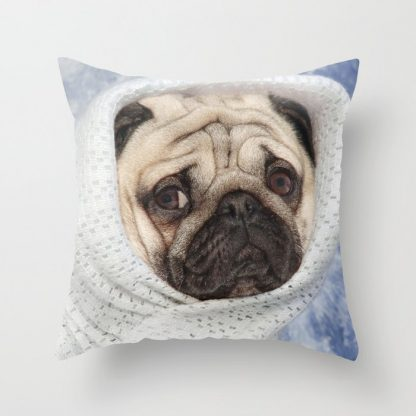 Pug alien&Pug Planet Pillow