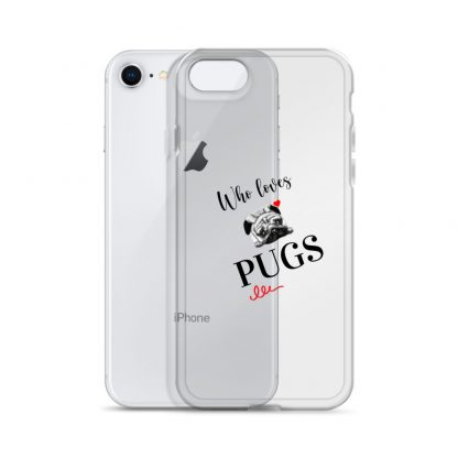 Sleek iPhone Case with Pug Face Pattern