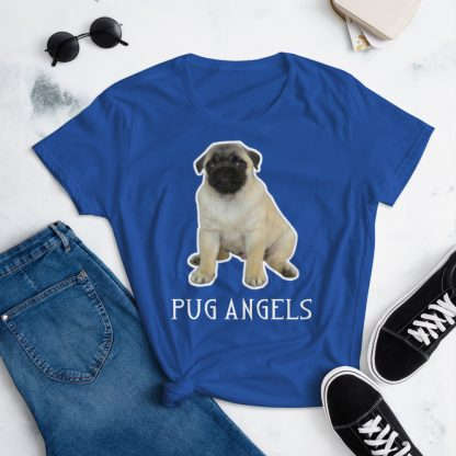 Pug Angels Cute Puppy Dog Women's T-shirt