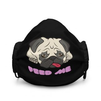 Cute Pug Face Sad Dog Feed Me Face Mask