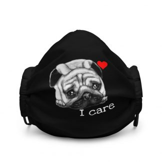 Cute Drawing Pug Face | DogFace | Dog Love Face Mask