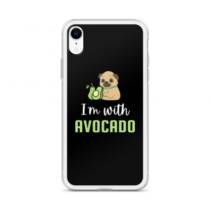 I'm with The Avocado Funny Pug iPhone Case
