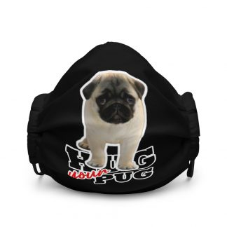 Hug Your Pug Cute Pug Puppy Face Mask
