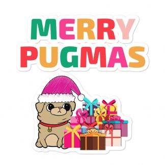 Merry Pugmas Santa Pug Xmas Funny Dogmas Car Decal Back Window Bumper Stickers