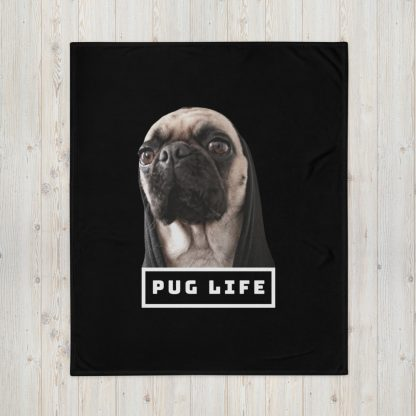 Pug Life Funny Dog Life Humor Parody Hipster | Gift Dog Lovers Throw Blanket